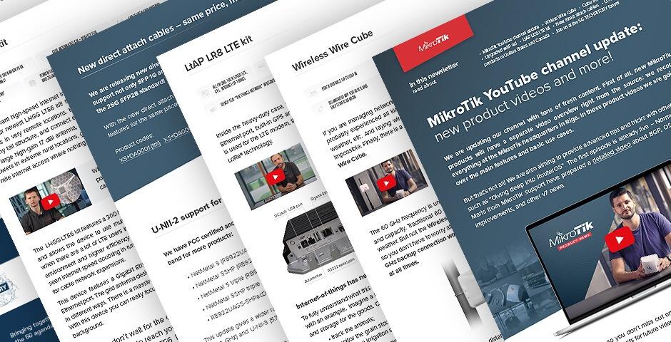 اخبار جدید و قیمت تجهیزات میکروتیک