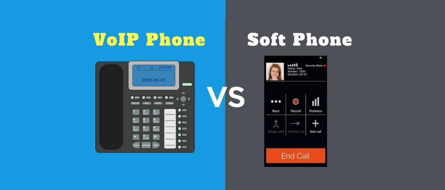 مقایسه soft phone و VOIP Phone