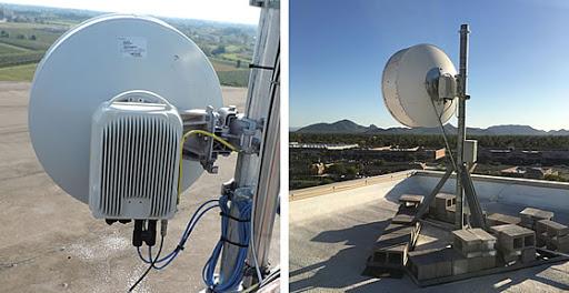 دستگاه لینک مایکروویو ALFOplus2 نصب شده بر پشت بام