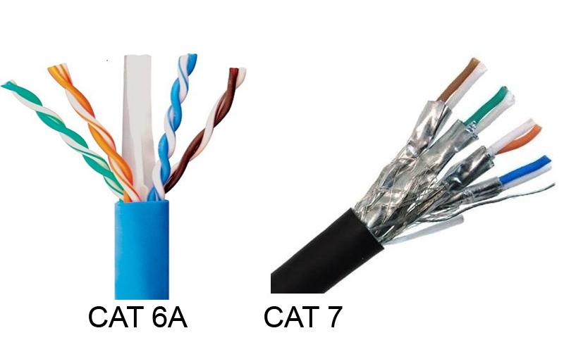 کابل شبکه cat6a و کابل شبکه cat7