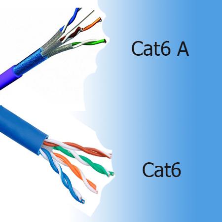 تفاوت کابل cat 6 با کابل شبکه cat6 a