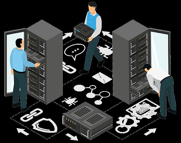 نصب تجهیزات شبکه در رک