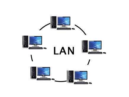 شبکه LAN یا شبکه محلی از انواع شبکه های کامپیوتری است