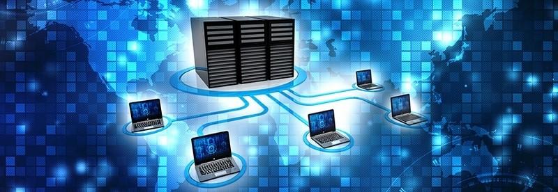 لپ تاپ های متصل به یک شبکه کامپیوتری