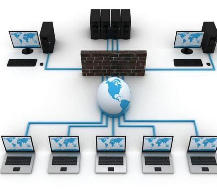 شبکه ی کامپیوتری راه اندازی شده