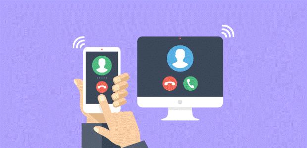 دریافت و ارسال تماس از دستگاه های مختلف در سرویس تلفن اینترنتی