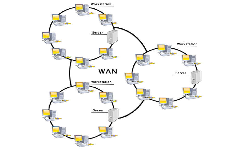 شبکه WAN یا شبکه گسترده از انواع شبکه های کامپیوتری است