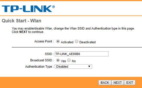فعالسازی وای فای در کانفیگ مودم تی پی لینک