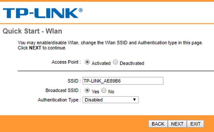 تنظیمات وایرلس برای راه اندازی مودم tp-link